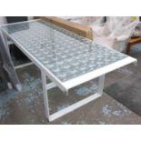 MANNER OF PATRICIA URQUIOLA LENS DESIGN TABLE, 230cm x 85cm x 73cm. (slight faults to side)