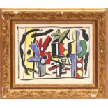 FERNAND LEGER 'In the studio', 1959, pochoir, printed by Jacomet, edition of 970, signed in the