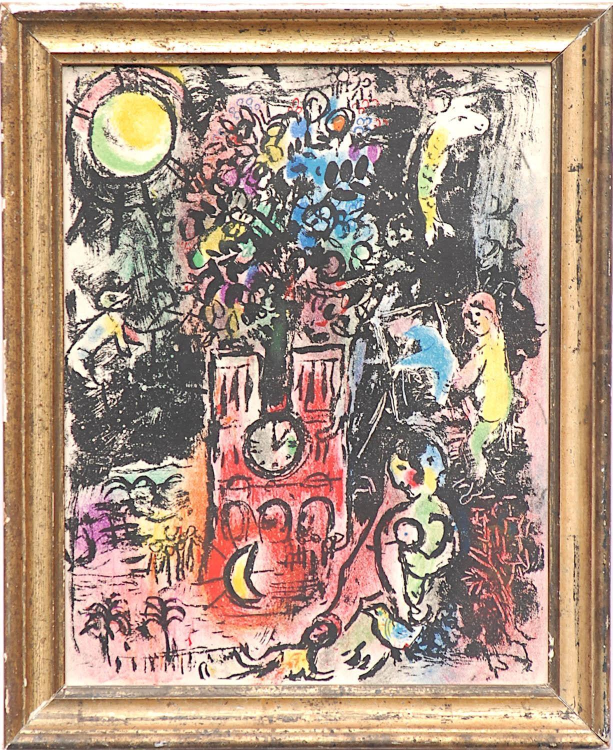 MARC CHAGALL 'The Tree of Jesse', 1960, original lithograph, printed by Maeght, 31cm x 24cm,