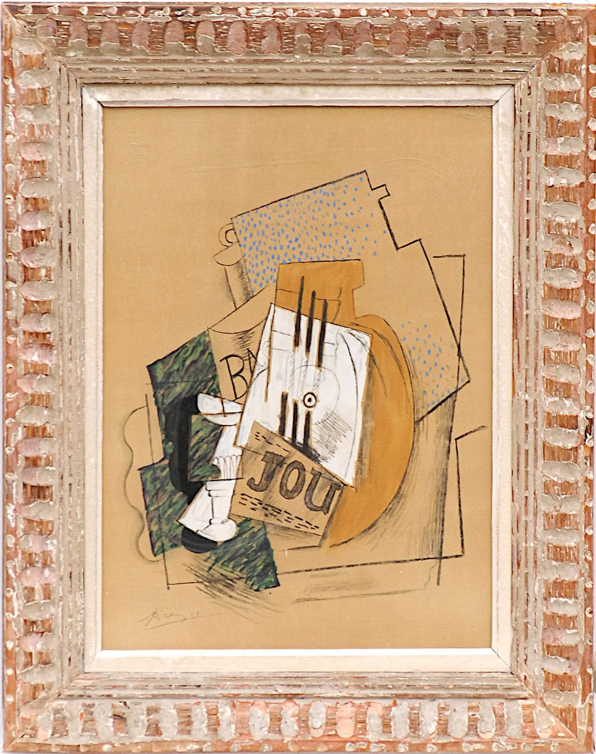 PABLO PICASSO 'Nature Morte', signed in the plate, pochoir on wove paper, edition 1000, printed by