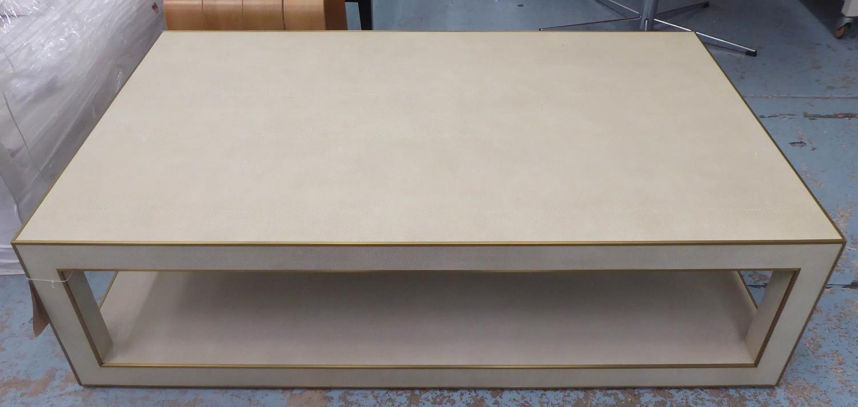 RESTORATION HARDWARE CELA COFFEE TABLE BY CHARLIE ZAGAROLI, 140cm x 84cm x 38cm. - Image 2 of 4