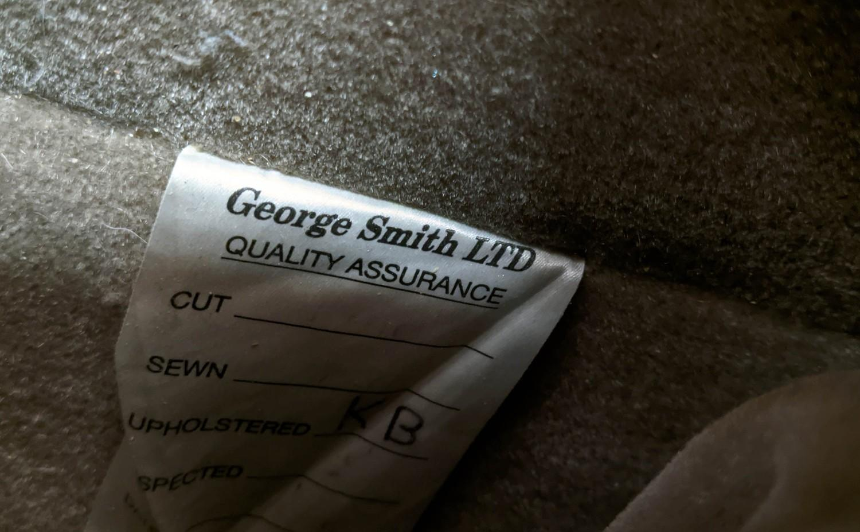 GEORGE SMITH SOFA, mohair velvet finish, Howard style, 208cm W. - Image 4 of 4