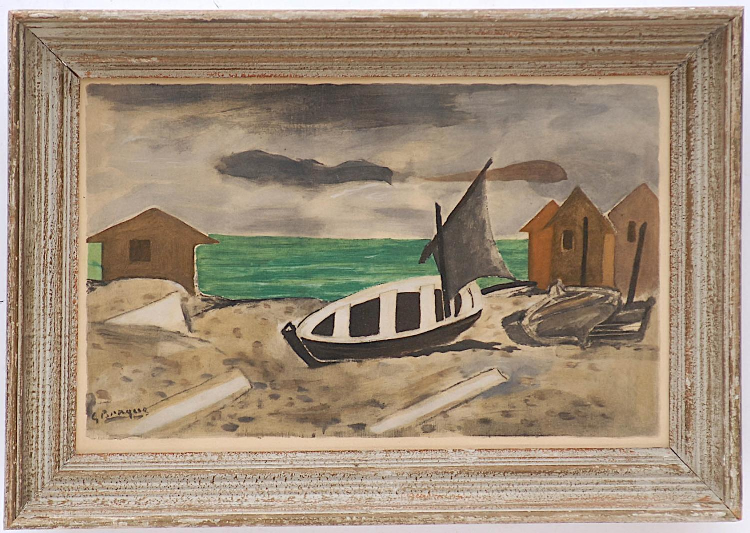 GEORGES BRAQUE 'Varangeville', pochoir, edition 970, printed by Jacomet, signed in the plate, suite:
