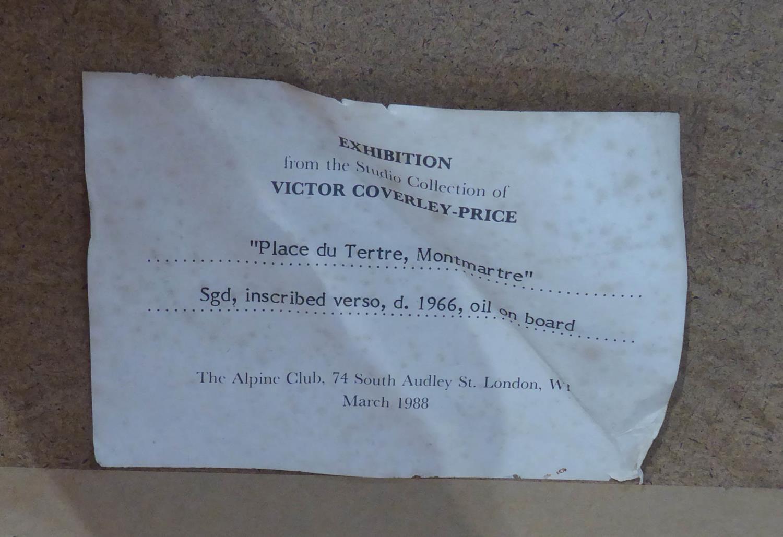 ARTHUR VICTOR COVERLEY-PRICE - MA FRGS (1901-1988) 'Place Du Teatre, Montmartre, Paris, with Cadet - Image 4 of 4