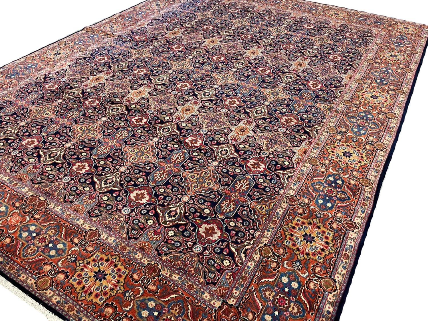 FINE ANTIQUE PERSIAN KHORASSAN CARPET, 340cm x 260cm. - Image 2 of 5