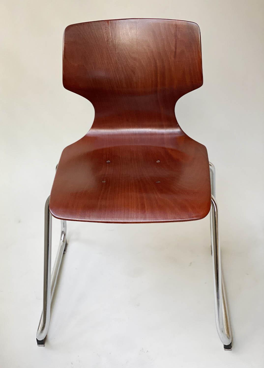 FLOTOTTO PAGHOLZ DINING CHAIRS, a set of five, by Elmar Flototto, 78cm H. (5) - Image 2 of 9