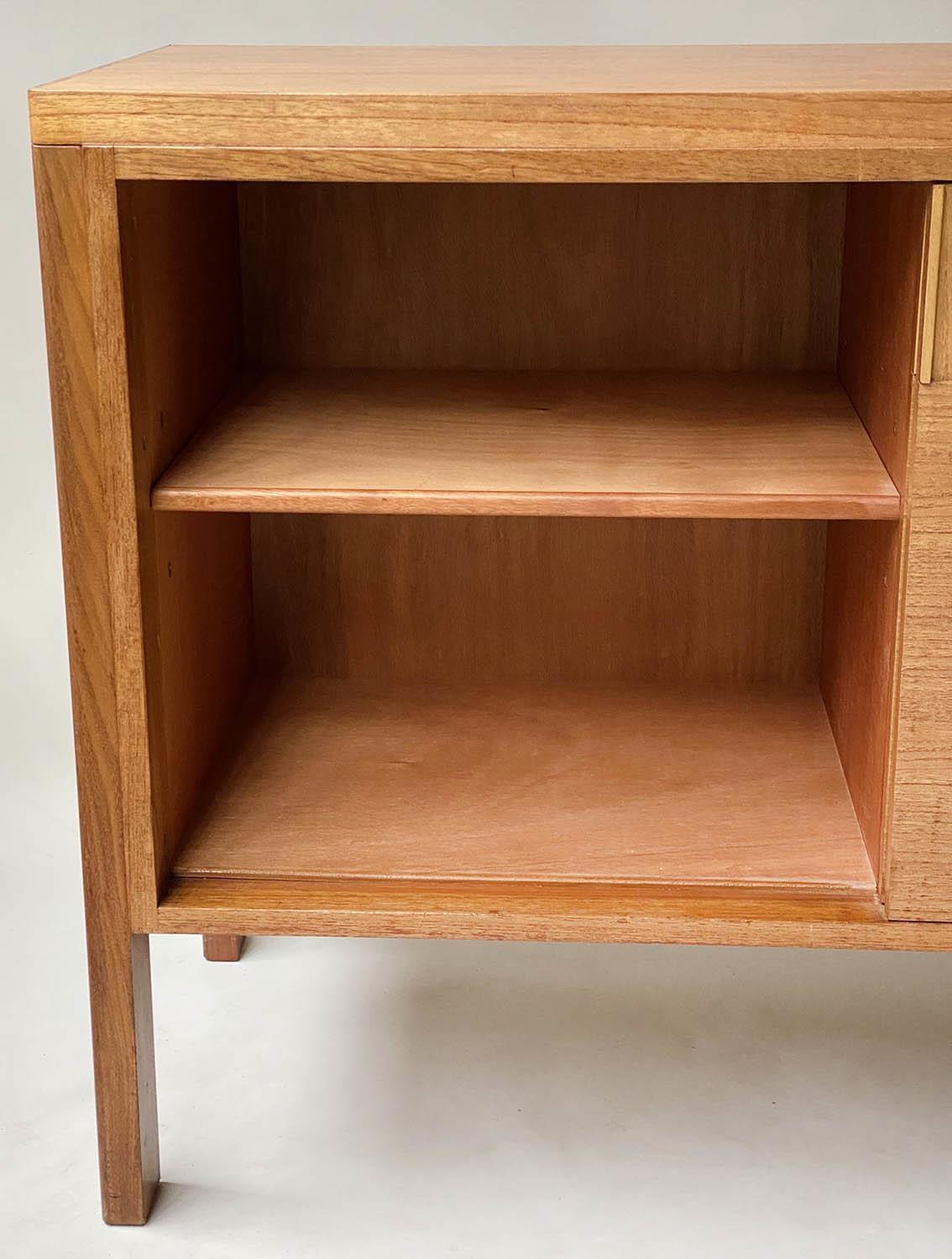 GORDON RUSSELL SIDEBOARD, 1960's walnut with two sliding doors enclosing shelves stamped Gordon - Image 6 of 8