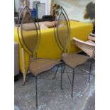 SIDE CHAIRS, a pair, indistinctly signed and dated 1994 underneath, 118cm H. (2)