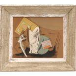 PABLO PICASSO 'Nature Morte à la Pipe', pochoir on velin d'arches paper after 1911 Picasso's