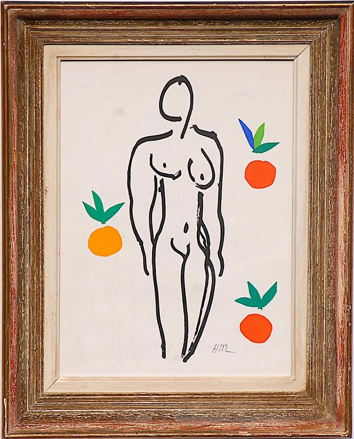 HENRI MATISSE 'Nude with Oranges', original lithograph from the 1954 edition, after Mattisse's cut