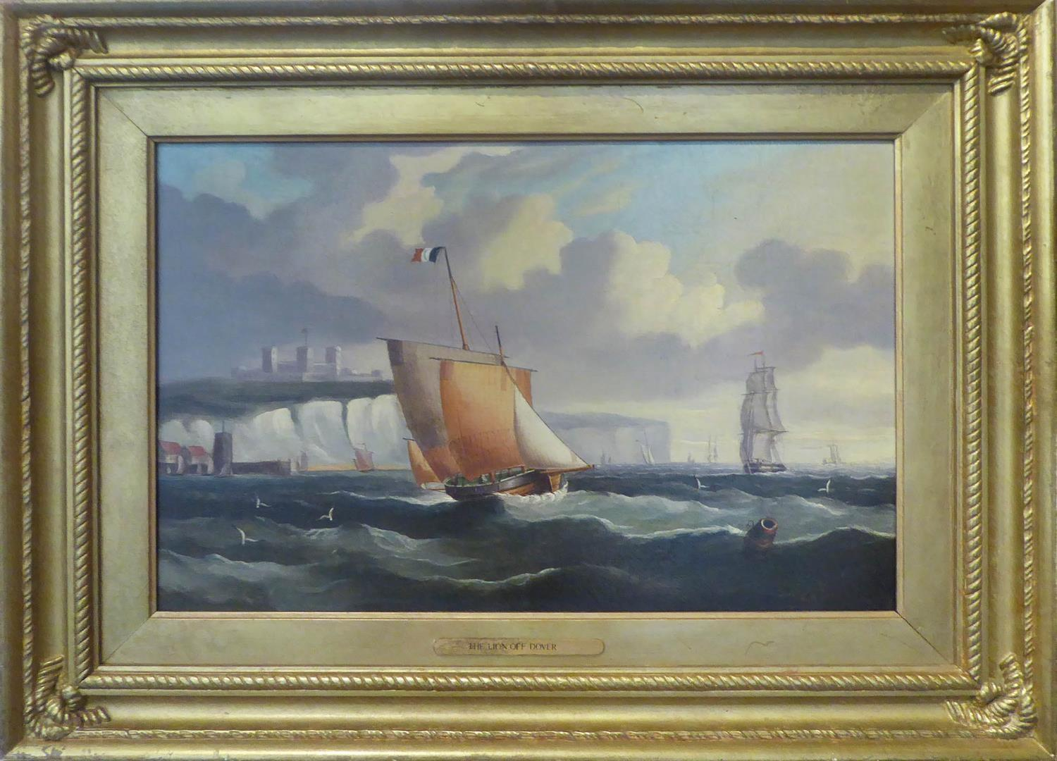 WILLIAM BARNETT SPENCER (British 1840-1870) 'The Lion off Dover' and 'The Lion off Portsmouth', a - Image 3 of 4