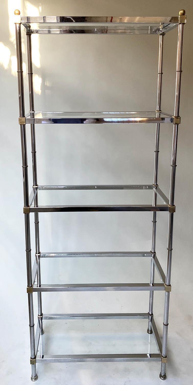 CHROME SHELVES, a pair, chrome frame with rectangular glass shelves each with five shelves, 78cm x - Image 5 of 8