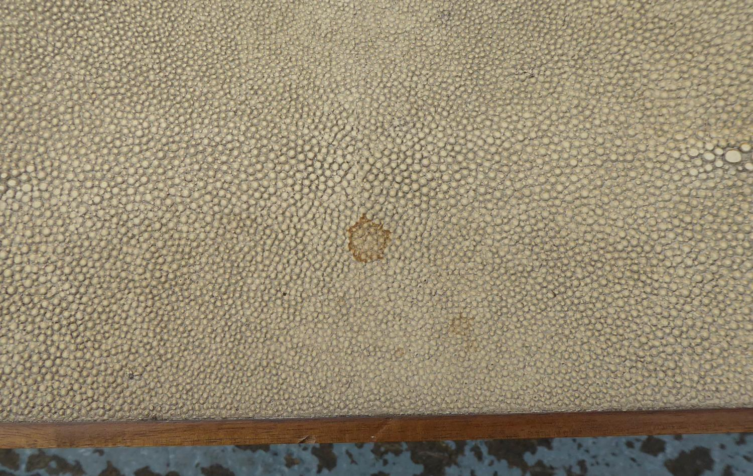 NEST OF TABLES, contemporary, faux shagreen finish, 137.5cm x 67cm x 49cm at largest. - Image 5 of 6