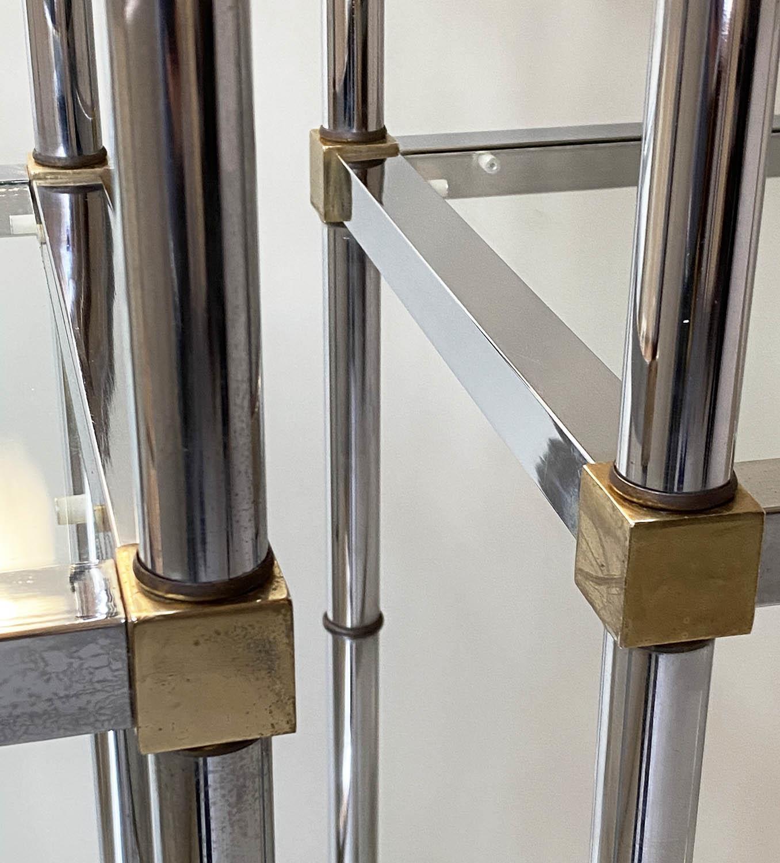 CHROME SHELVES, a pair, chrome frame with rectangular glass shelves each with five shelves, 78cm x - Image 8 of 8