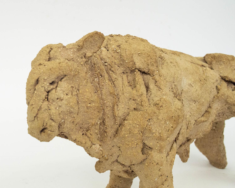 TANYA BRETT (b.1974) BULL, ceramic maquette, 14cm H x 23cm x 8cm. - Image 2 of 4