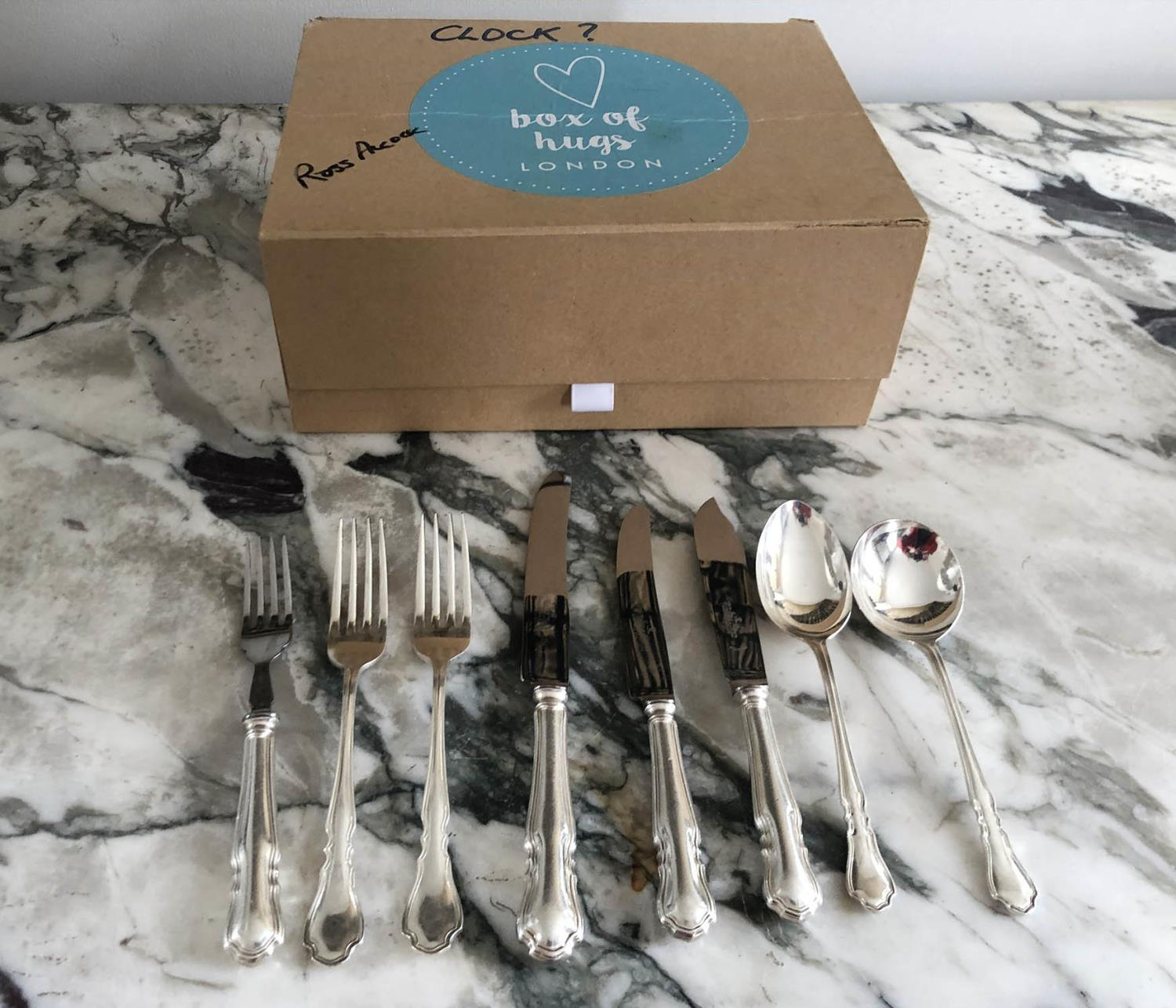 CANTEEN OF CUTLERY, silver plated 'Harrison and Hawson' 'Dubarry' pattern, nine place, eight piece - Image 3 of 3