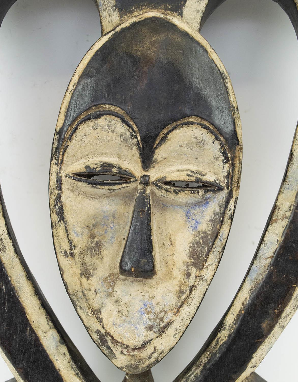 KWELE MASK, from Gabon, ritual antelope mask, 40cm H. - Image 2 of 3