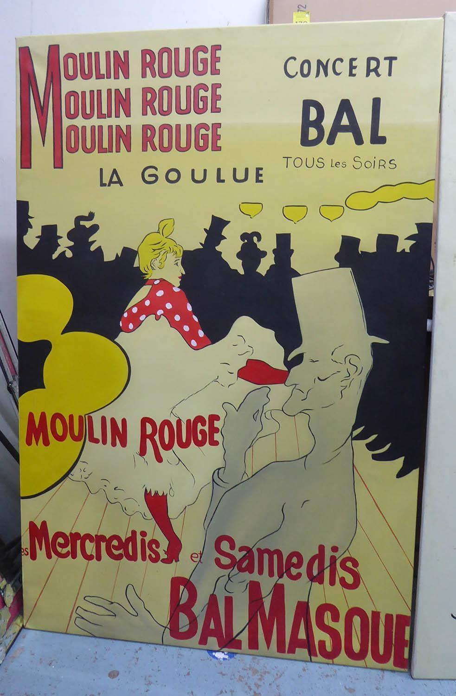 AFTER HENRI DE TOULOUSE-LAUTREC, a set of two, on cavas, 149cm x 100cm each. (2) - Image 2 of 5