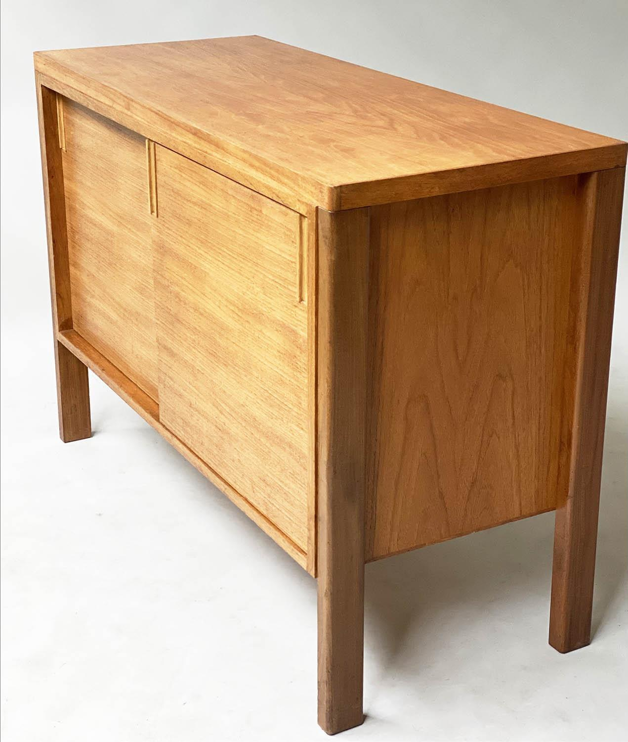 GORDON RUSSELL SIDEBOARD, 1960's walnut with two sliding doors enclosing shelves stamped Gordon - Image 4 of 8