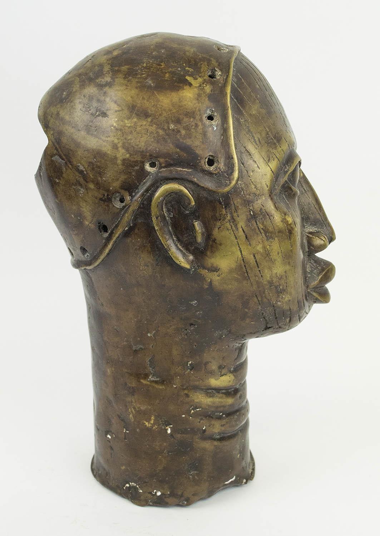 BENIN IFE BRONZE HEAD, 35cm H. - Image 4 of 4