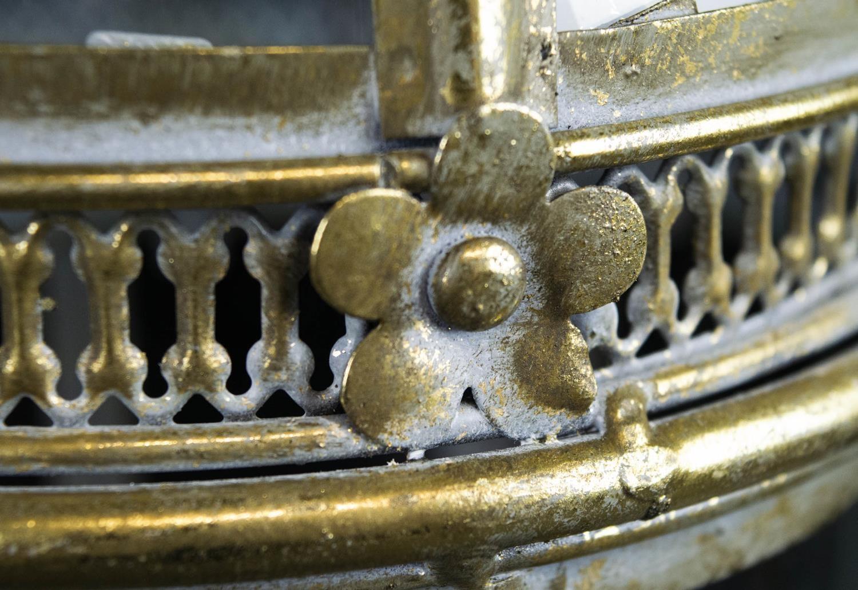 STORM LANTERNS, a set of four, Regency style, gilt metal finish, 55cm H. (4) - Image 3 of 3