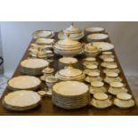 H & C SCHLAGGENWALD DINNER SERVICE, gold rim stylised decorsation including twenty one dinner plats,