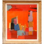 NICOLAS DE STAEL, abstract in colours, quadrichrome, 84cm x 71cm. (Subject to ARR - see Buyers
