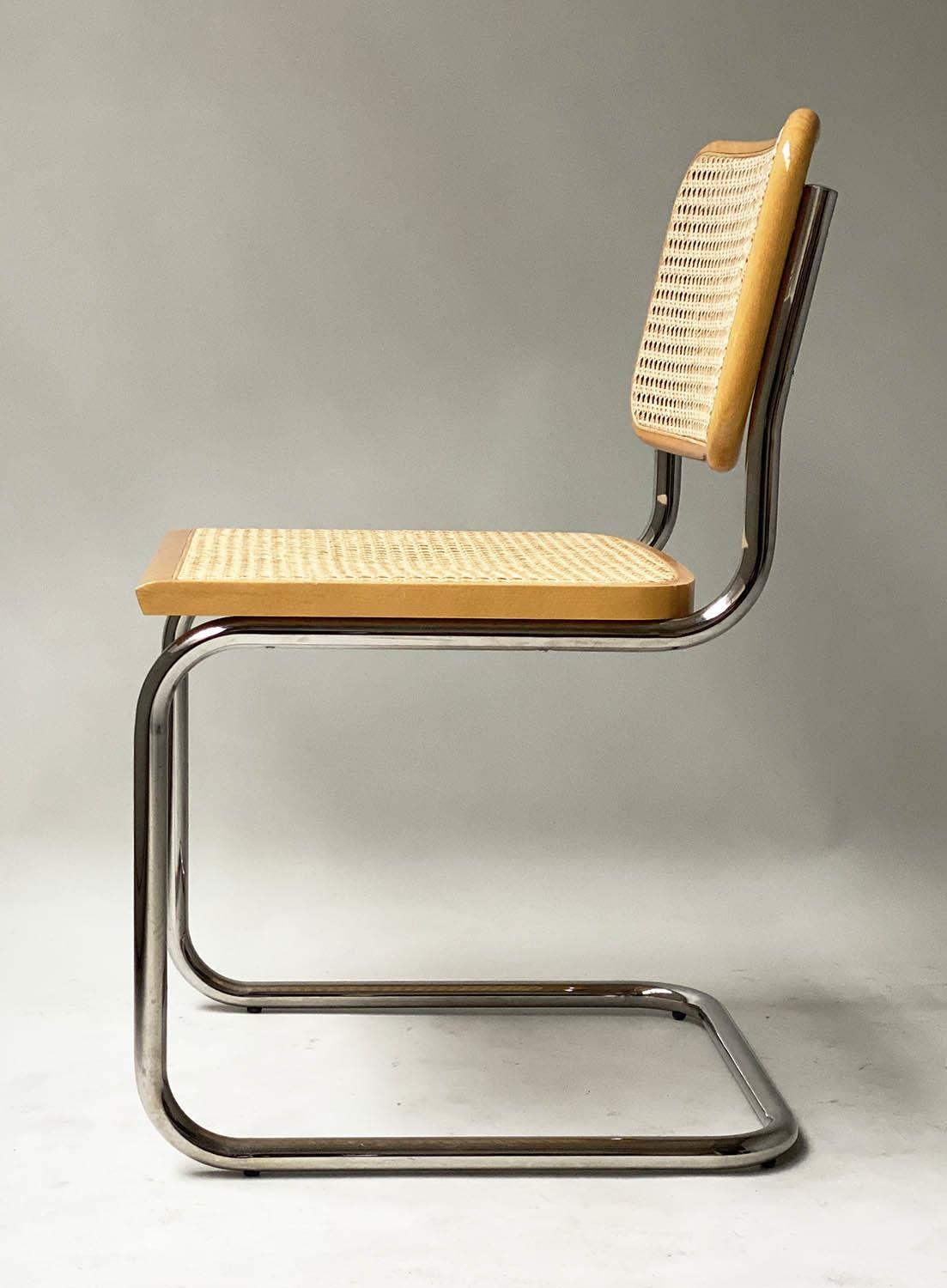AFTER MARCEL BREUER DINING CHAIRS, Cesca style chairs, a set of six beech wood cane paneled and - Image 8 of 11