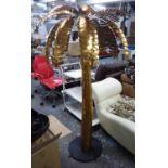 MAISON JANSEN STYLE PALM TREES, a pair, gilt metal, 174cm H approx. (2)