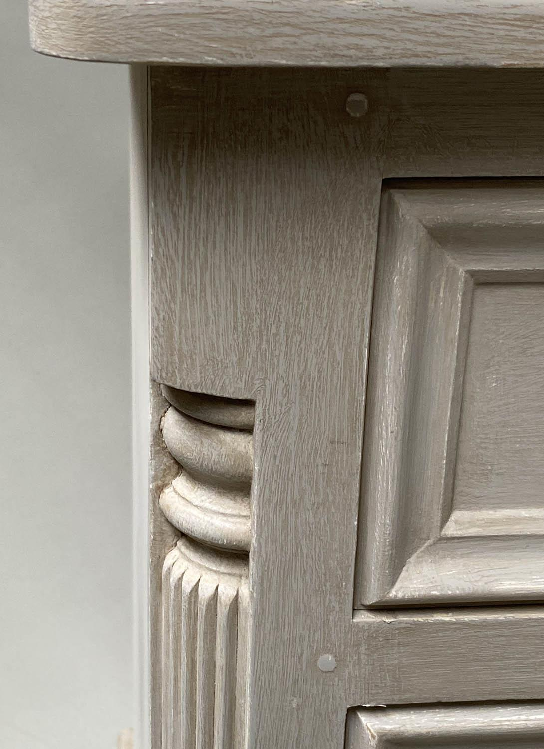 BEDSIDE CHESTS, a pair, French style grey painted, each with three drawers, 49cm x 47cm x 76cm H. ( - Image 4 of 7