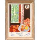 HENRI MATISSE 'Nice and Travail', poster, signed in the plate, 71cm x 49cm. (Subject to ARR - see