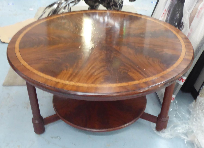 MANNER OF CLIVE CHRISTIEN LOW TABLE, 89cm diam x 45cm H.
