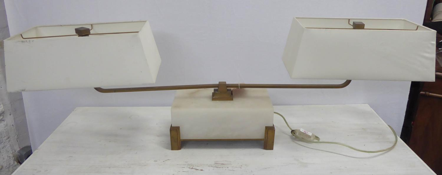 BAKER FURNITURE LIBRARY STEM LAMP BY BILL SOFIELD, with shades, 39cm H. - Image 2 of 5