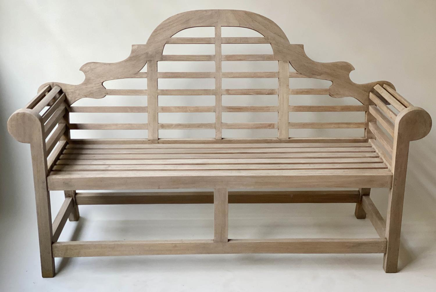 LUTYENS STYLE GARDEN BENCH, matching previous lot, 166cm W.