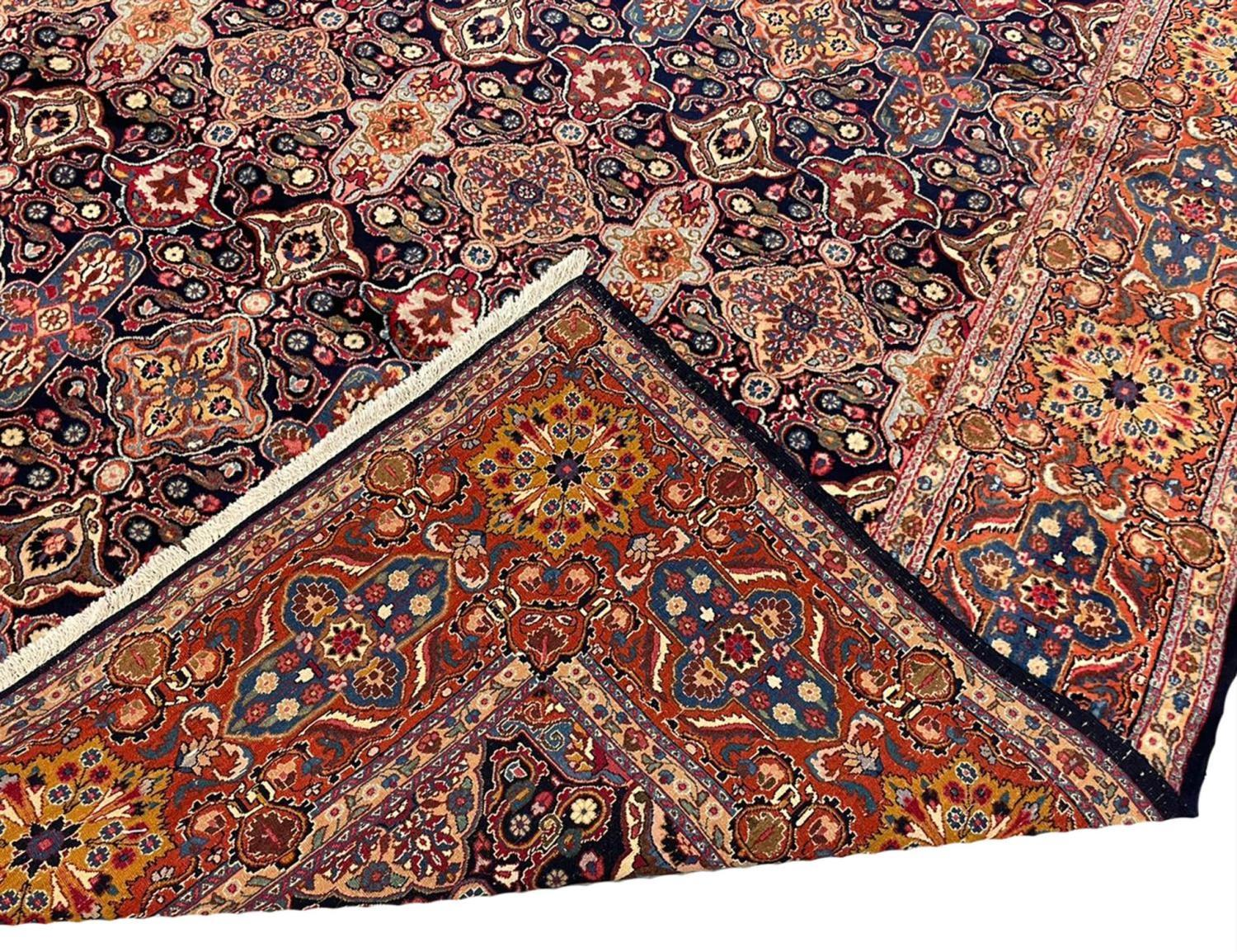 FINE ANTIQUE PERSIAN KHORASSAN CARPET, 340cm x 260cm. - Image 5 of 5