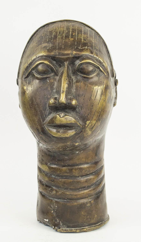 BENIN IFE BRONZE HEAD, 35cm H.