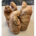 SRI LANKAN SCHOOL 'Five Figures in Circle', garden terracotta sculpture, 45cm x 50cm x 45cm.