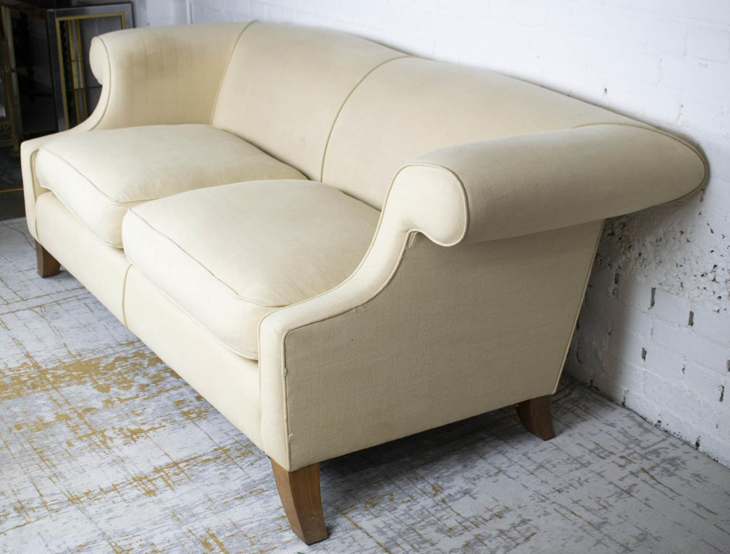 LINLEY SOFA, by David Linley, 77cm H x 203cm L x 98cm D. (with faults) - Image 2 of 7