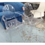 KARTELL GHOST CHAIRS, a set of six, by Philippe Starck, including two Louis and four Victoria