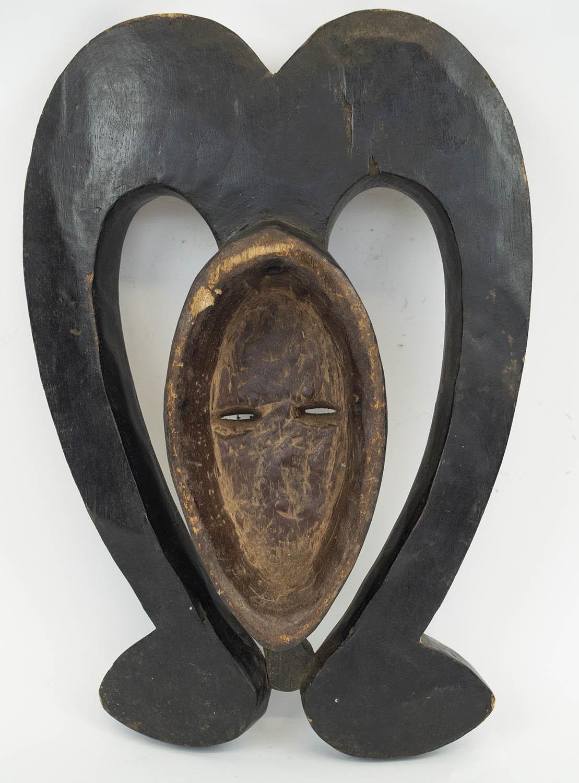 KWELE MASK, from Gabon, ritual antelope mask, 40cm H. - Image 3 of 3