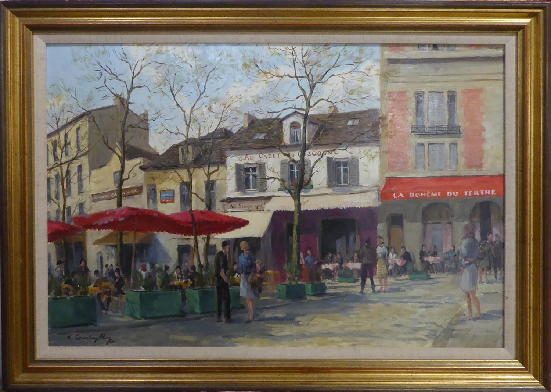ARTHUR VICTOR COVERLEY-PRICE - MA FRGS (1901-1988) 'Place Du Teatre, Montmartre, Paris, with Cadet