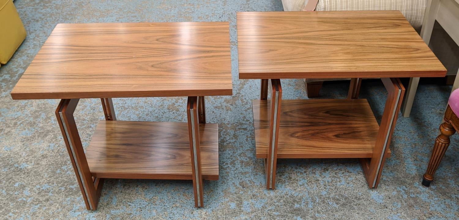 LINLEY HELIX SIDE TABLES, a pair, by David Linley, 65cm x 45cm x 55.5cm. (authenticated by linley)