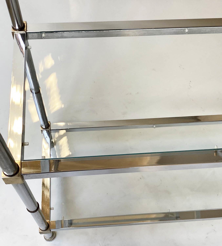 CHROME SHELVES, a pair, chrome frame with rectangular glass shelves each with five shelves, 78cm x - Image 2 of 8