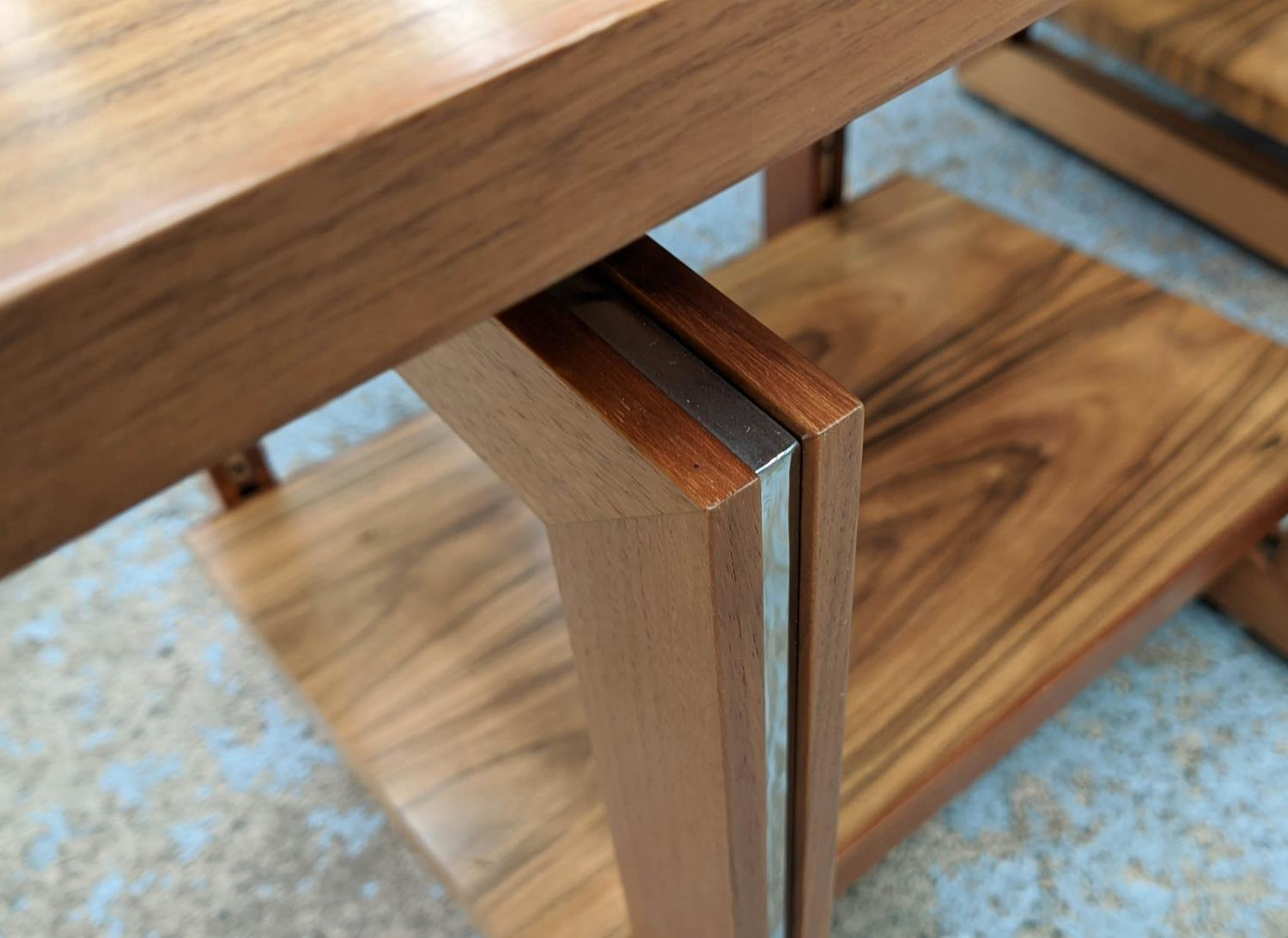 LINLEY HELIX SIDE TABLES, a pair, by David Linley, 65cm x 45cm x 55.5cm. (authenticated by linley) - Image 3 of 4