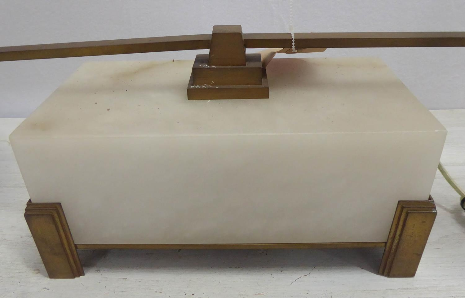 BAKER FURNITURE LIBRARY STEM LAMP BY BILL SOFIELD, with shades, 39cm H. - Image 3 of 5