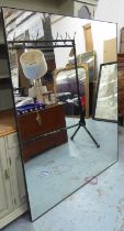 WALL MIRROR, with a gently distressed plate, 122cm x 154cm H.