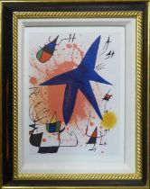 JOAN MIRO 'Lithograph I', original colour lithograph, 1972, printed at Mourlot Frères, Paris, ref