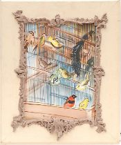 RAOUL DUFY 'Bird Cage', lithograph, signed in the plate, 40cm x 30cm, framed and glazed.