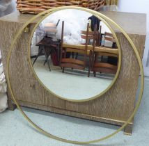 WALL MIRROR, 1960's atomic design, 90cm diam.