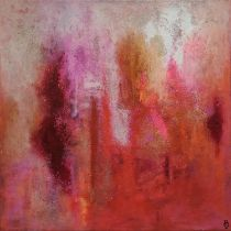 20th CENTURY SCHOOL 'Abstract', oil on canvas, 50cm x 50cm, signed with monogram 'BV'.